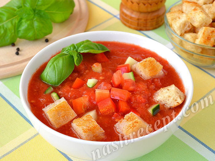 суп гаспачо - sup gazpacho