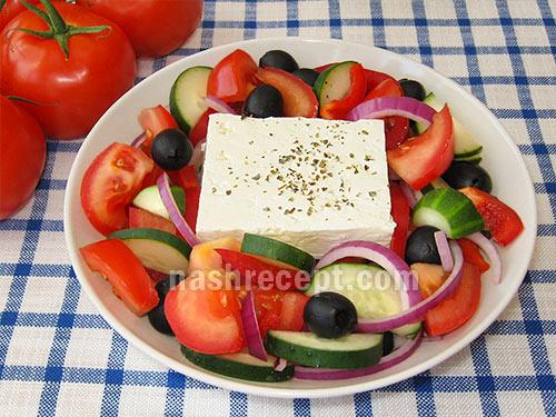 греческий салат (деревенский) - grecheskiy salat (derevenskiy)