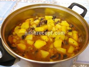 Картошка тушеная с грибами - kartoshka s gribami
