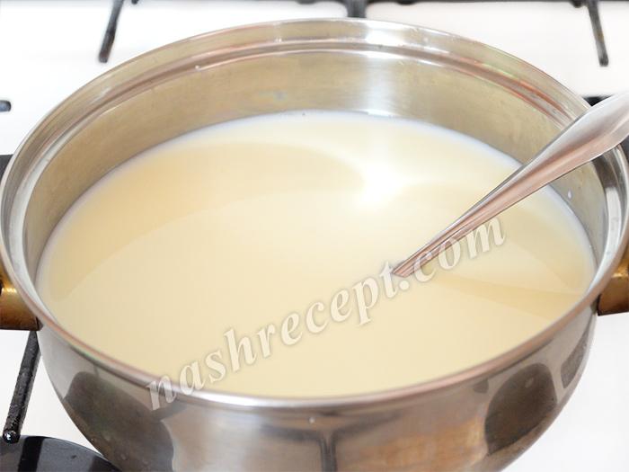 молоко для манной каши - moloko dlya mannoy kashi