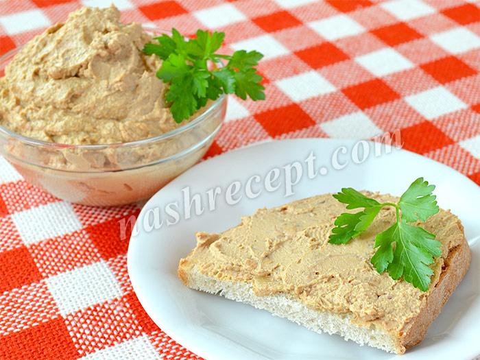 паштет из печени для бутербродов - pashtet iz pecheni dlya buterbrodov