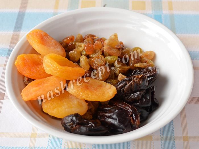 сухофрукты для салата красоты - suhofrukty dlya salata krasoty