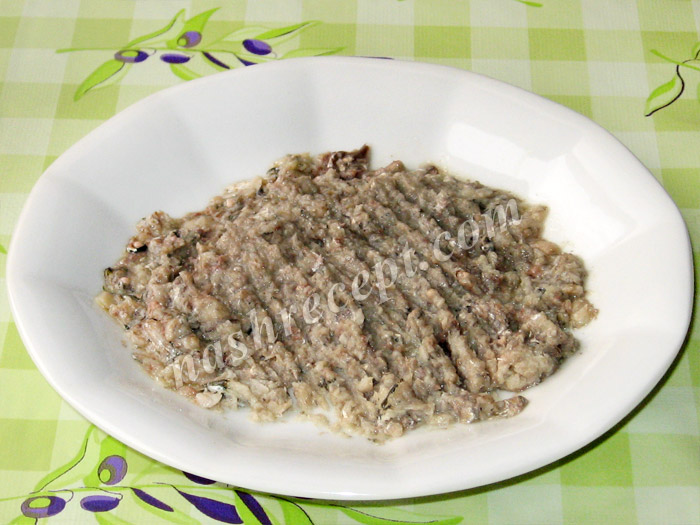 пюре из анчоусов для салата Цезарь - pyure iz anchousov dlya salata Caesar