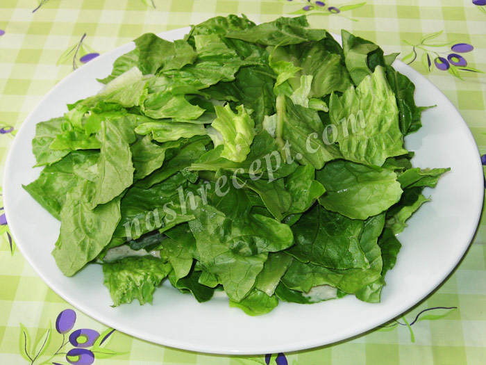 оставшийся салат выкладываем на блюдо - ostavshiysya salat vykladyvaem na blyudo