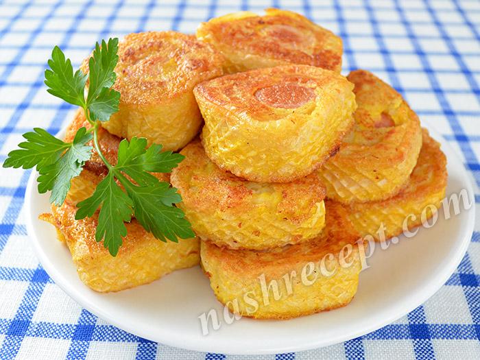 сосиски в вафлях, закуска студенческая - sosiski v vaflyah, zakuska studencheskaya