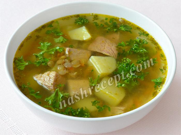 чечевичный суп - chechevichnyi sup