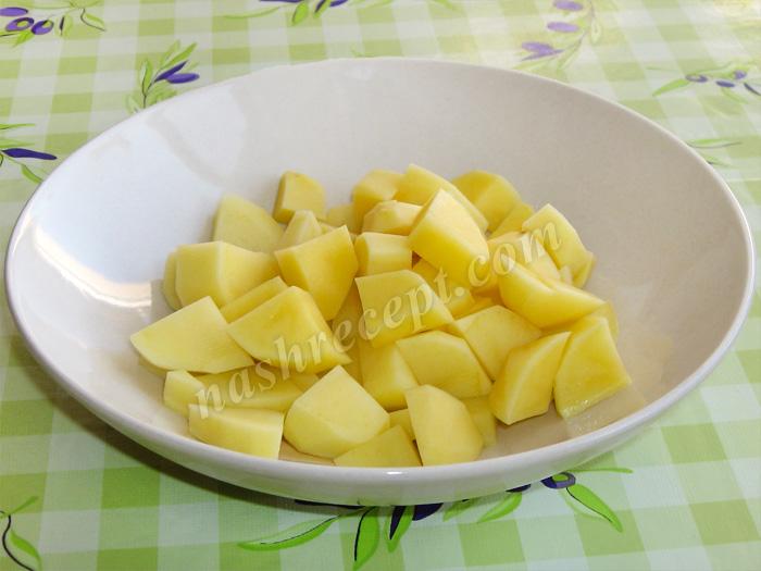 картофель для супа из чечевицы с мясом - kartofel dlya supa iz chechevitsy s myasom