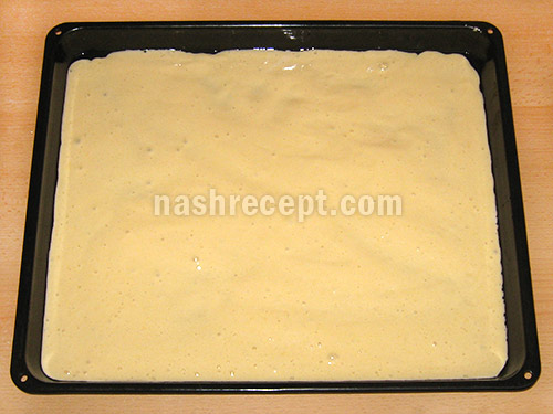 бисквитное тесто для рулета - biskvitnoe testo dlya ruleta