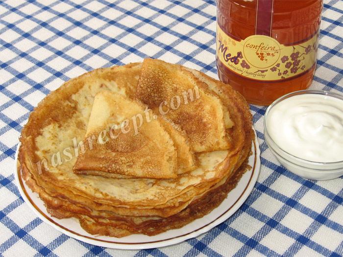 вкусные тонкие блины на молоке - vkusnye tonkie bliny na moloke