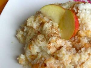 рисовая каша с яблоками - risovaya kasha s yablokami