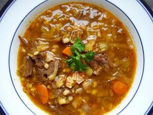 суп перловый с мясом - sup perlovyi s myasom