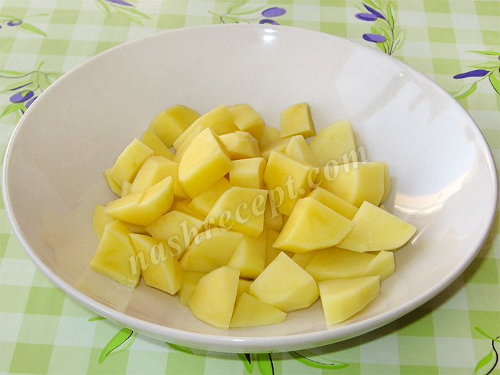 картошка для супа перлового с мясом - kartoshka dlya supa perlovogo s myasom
