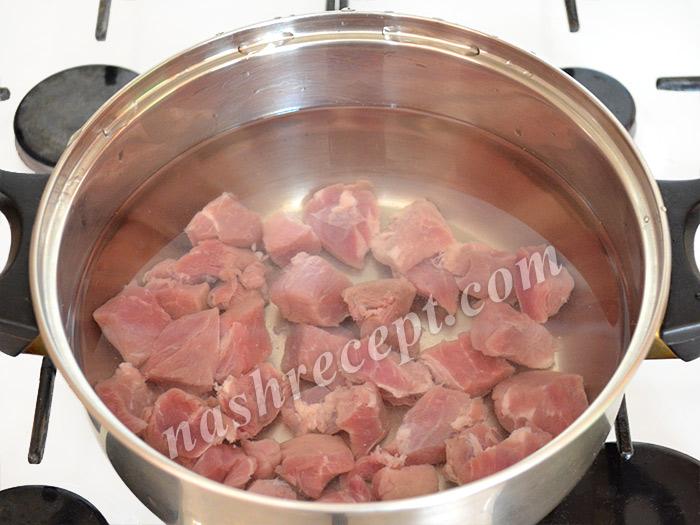 варим мясо для супа - varim myaso dlya supa