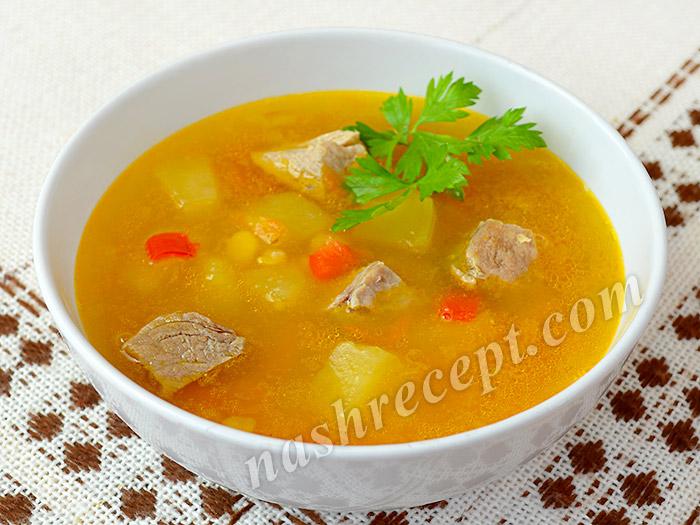 гороховый суп с мясом - gorohovyi sup s myasom