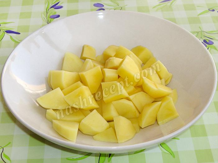 картошка для горохового супа - kartoshka dlya gorohovogo supa