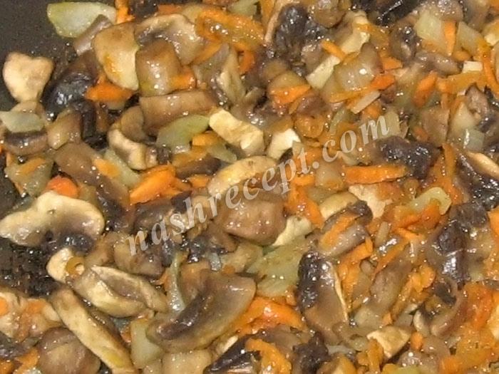 грибы с овощами для грибной подливы - griby s ovoschami dlya gribnoy podlivy