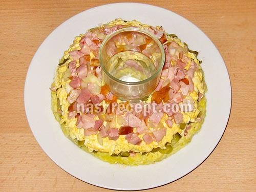 салат гранатовый браслет 5 слой - salat granatovyi braslet 5 sloy