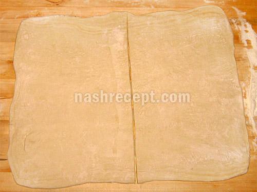 раскатываем слоеное тесто - raskatyvaem sloenoe testo