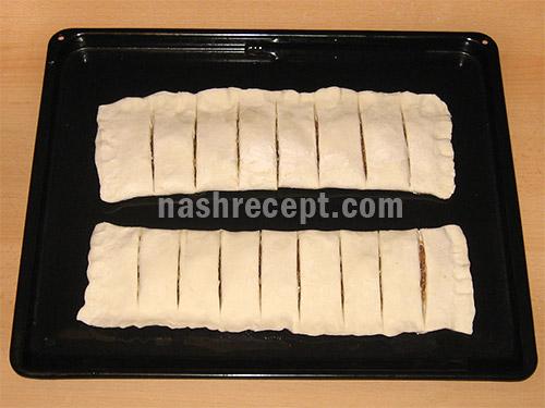 выпекаем слоеный пирог с яблоками - sloenyi pirog s yablokami