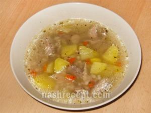 суп перловый с курицей - sup perlovyi s kuritsey