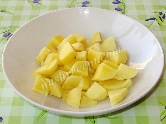 картофель для супа перлового с курицей - kartofel dlya supa perlovogo s kuritsey