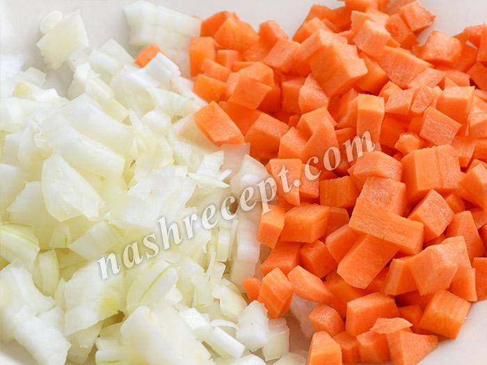 морковь и лук для супа - morkov i luk dlya supa