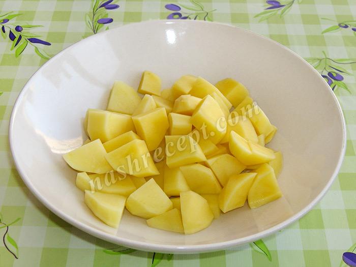 картошка для супа рисового с курицей - kartoshka dlya supa risovogo s kuritsey