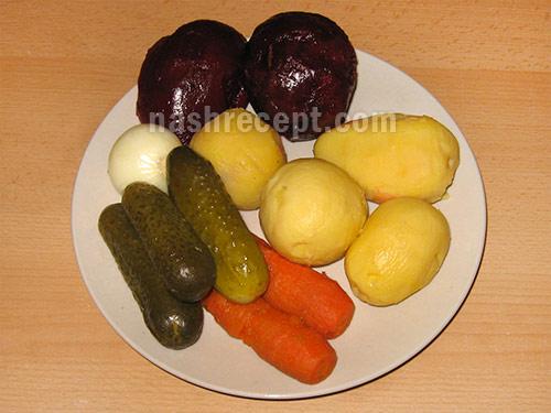 продукты для винегрета - produkty dlia vinegreta