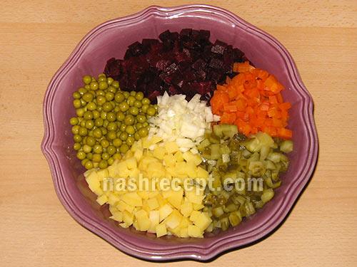 овощи для винегрета - ovoschi dlia vinegreta