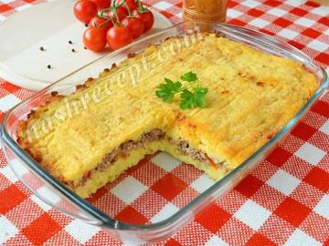 картофельная запеканка с мясом - kartofelnaya zapekanka s myasom