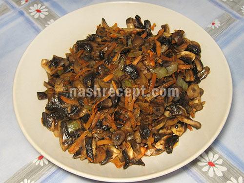 грибная начинка для мясного рулета - gribnaya nachinka dlya myasnogo ruleta