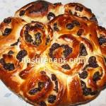 сдобный дрожжевой пирог розы - sdobnyi drozhzhevoy pirog rozy