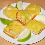 Пирог с грушами и заварным кремом