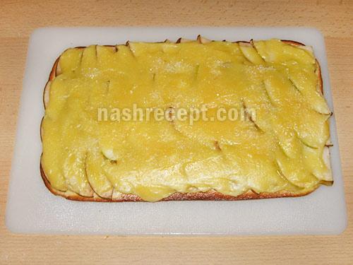 запекаем пирог с грушами и заварным кремом - zapekaem pirog s grushami i zavarnym kremom