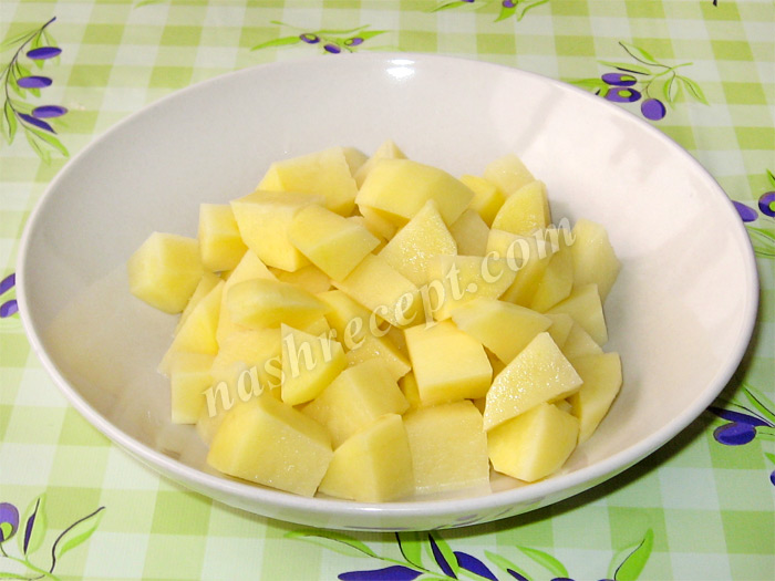 картофель для супа из репы с горошком - kartofel dlya supa iz repy s goroshkom