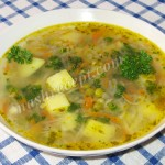 Постный суп из репы с горошком