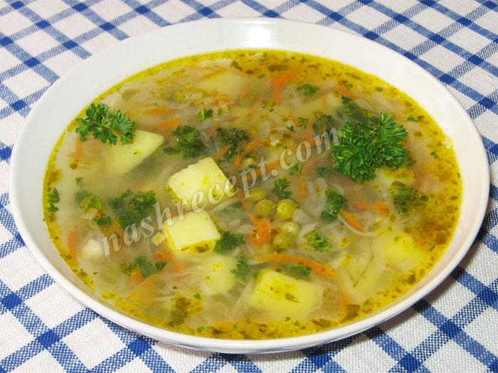 постный суп из репы с горошком - postnyi sup iz repy s goroshkom