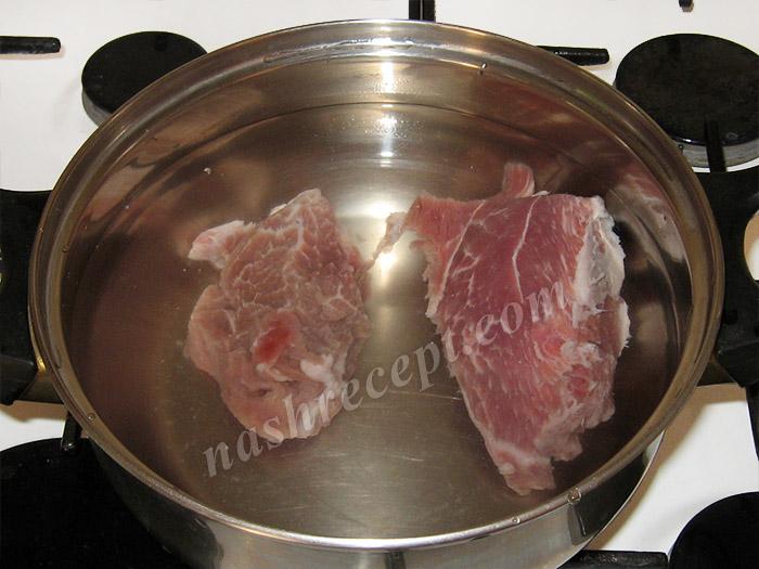 мясо для рисового супа - myaso dlya risovogo supa