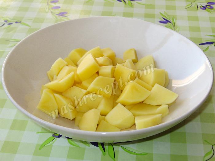 картошка для рисового супа с мясом - kartoshka dlya risovogo supa s myasom