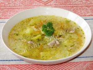 суп рисовый с мясом - sup risovyi s myasom