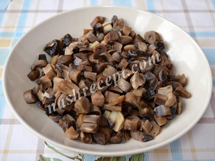 """грибы для постного салата """"Оливье"""" - griby dlya postnogo salata olivye"""