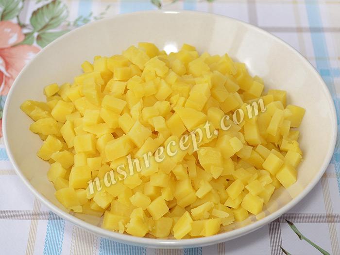 """картофель для постного салата """"Оливье"""" - kartofel dlya postnogo salata olivye"""