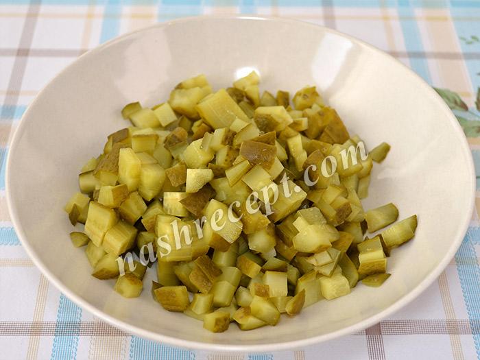 "огурцы для постного салата ""Оливье"" - ogurtsy dlya postnogo salata olivye"