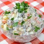 """постный салат """"Оливье"""" с грибами - postnyi salat olivye s gribami"""