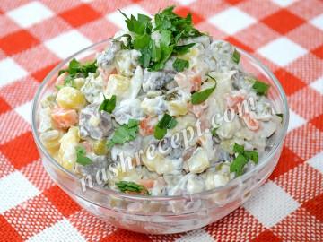 """салат """"Оливье"""" постный - salat olivye postnyi"""