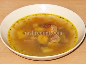 суп фасолевый с мясом - sup fasolevyi s myasom