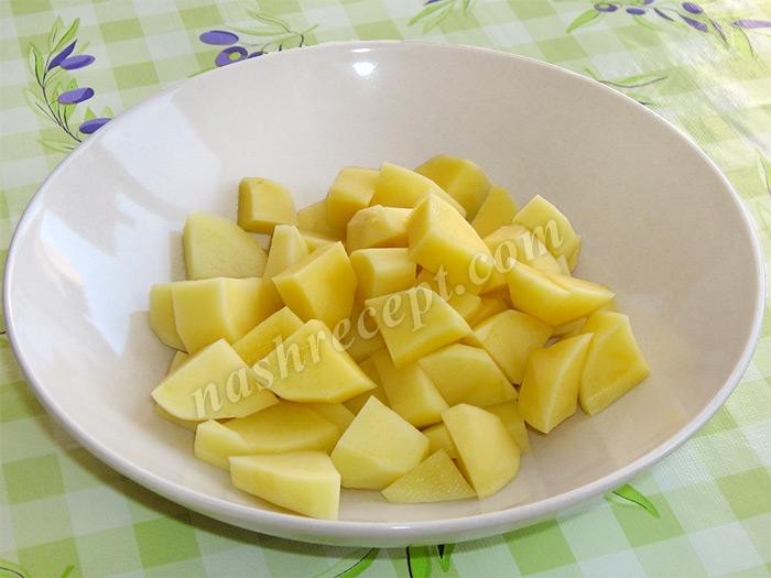 картофель для супа из фасоли с мясом - kartofel dlya supa iz fasoli s myasom