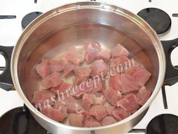 мясо для супа ставим вариться - myaso dlya supa stavim varitsya