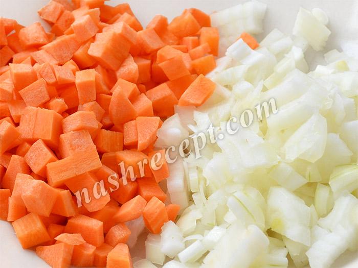 лук и морковь для вермишелевого супа - luk i morkov dlya vermishelevogo supa