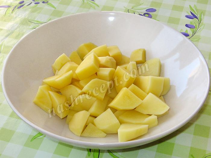 картофель для супа с вермишелью - kartofel dlya supa s vermisheliu